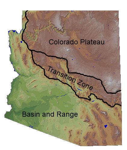 Physiographic Regions Arizona Edventures